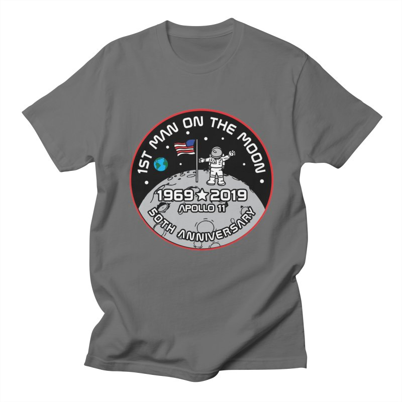 50th Anniversary of First Man Landing on the Moon Men's T-Shirt by Moon Joggers's Artist Shop