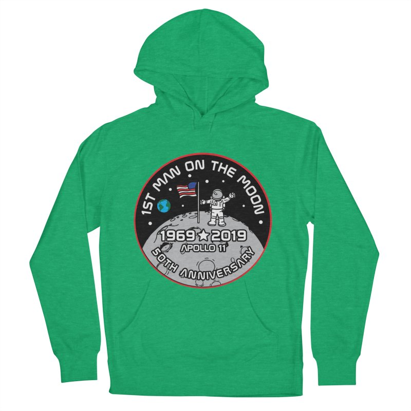 50th Anniversary of First Man Landing on the Moon Women's French Terry Pullover Hoody by Moon Joggers's Artist Shop