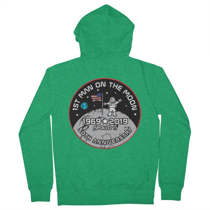 50th Anniversary of First Man Landing on the Moon Women's French Terry Zip-Up Hoody by Moon Joggers's Artist Shop