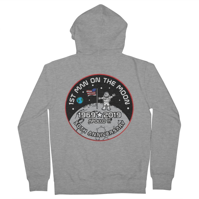 50th Anniversary of First Man Landing on the Moon Men's French Terry Zip-Up Hoody by Moon Joggers's Artist Shop