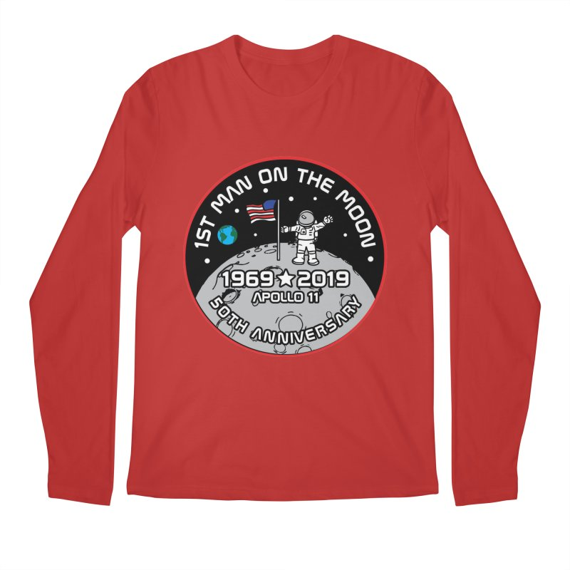 50th Anniversary of First Man Landing on the Moon Men's Regular Longsleeve T-Shirt by Moon Joggers's Artist Shop