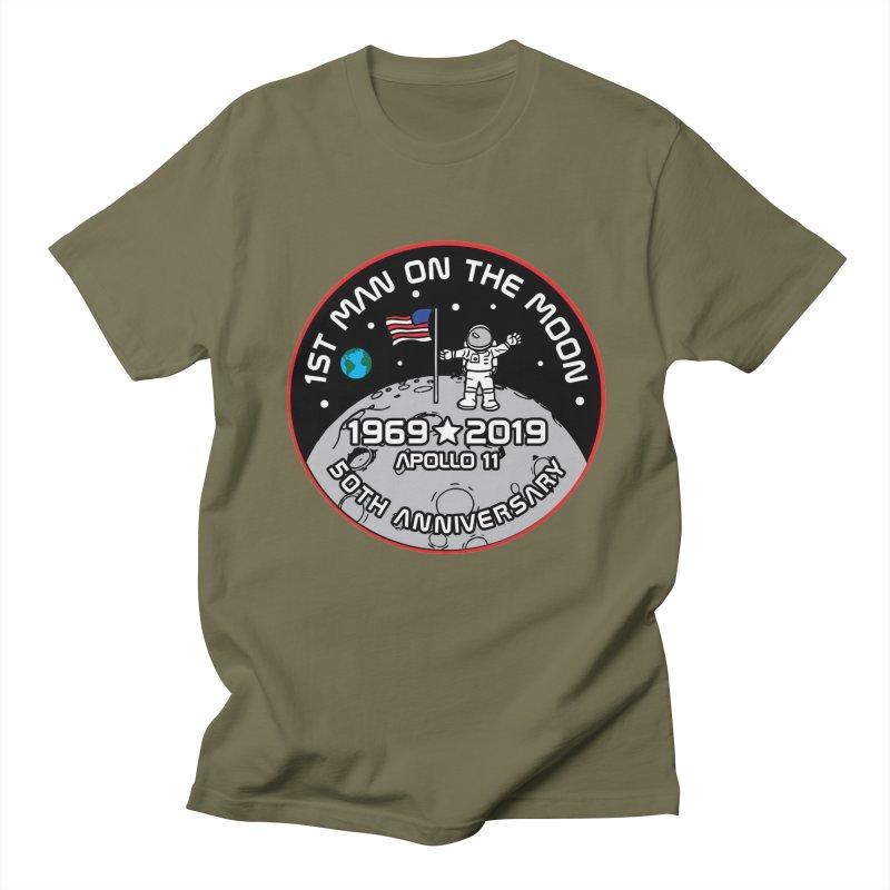 50th Anniversary of First Man Landing on the Moon Men's Regular T-Shirt by Moon Joggers's Artist Shop