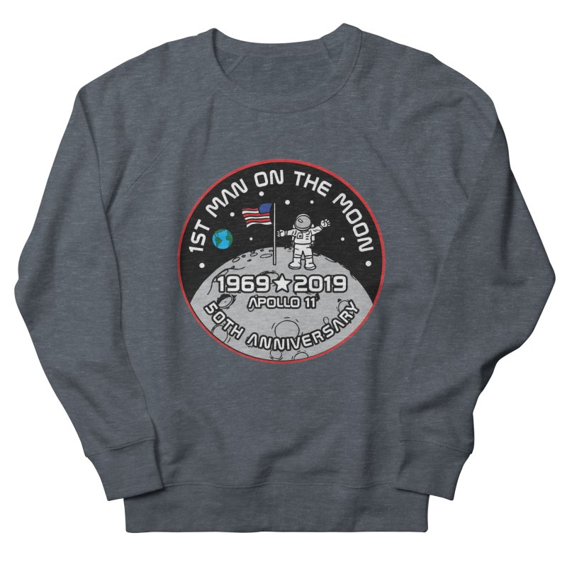 50th Anniversary of First Man Landing on the Moon Men's French Terry Sweatshirt by Moon Joggers's Artist Shop