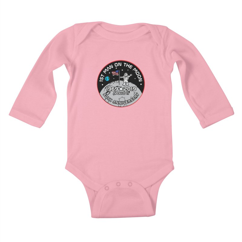 50th Anniversary of First Man Landing on the Moon Kids Baby Longsleeve Bodysuit by Moon Joggers's Artist Shop