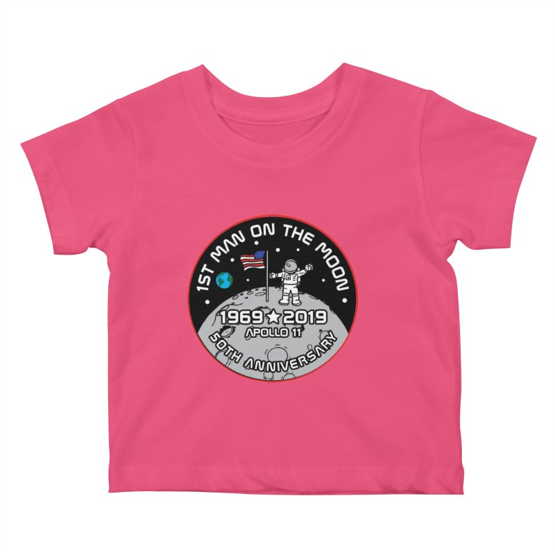 50th Anniversary of First Man Landing on the Moon Kids Baby T-Shirt by Moon Joggers's Artist Shop