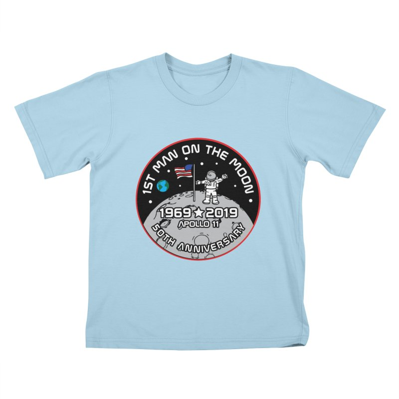 50th Anniversary of First Man Landing on the Moon Kids T-Shirt by Moon Joggers's Artist Shop