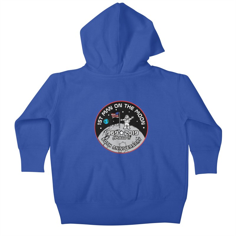 50th Anniversary of First Man Landing on the Moon Kids Baby Zip-Up Hoody by Moon Joggers's Artist Shop