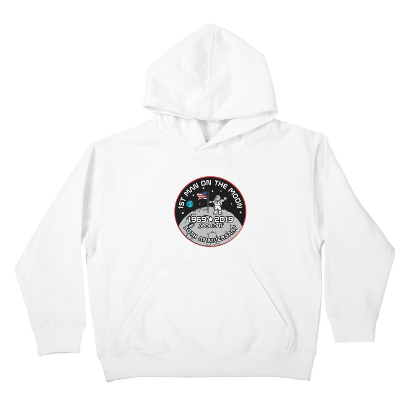 50th Anniversary of First Man Landing on the Moon Kids Pullover Hoody by Moon Joggers's Artist Shop