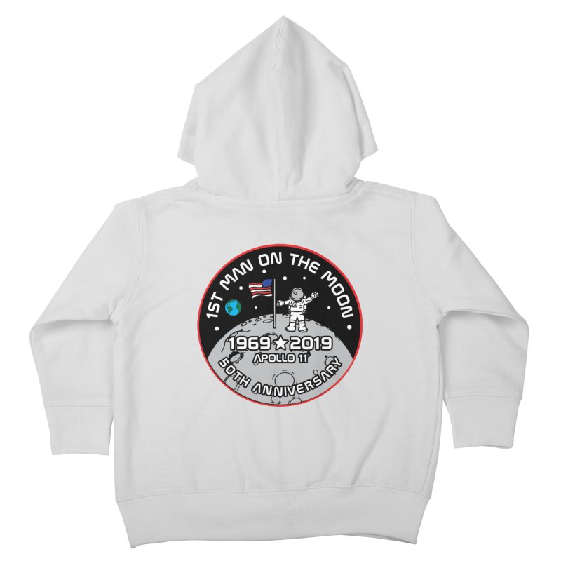 50th Anniversary of First Man Landing on the Moon Kids Toddler Zip-Up Hoody by Moon Joggers's Artist Shop