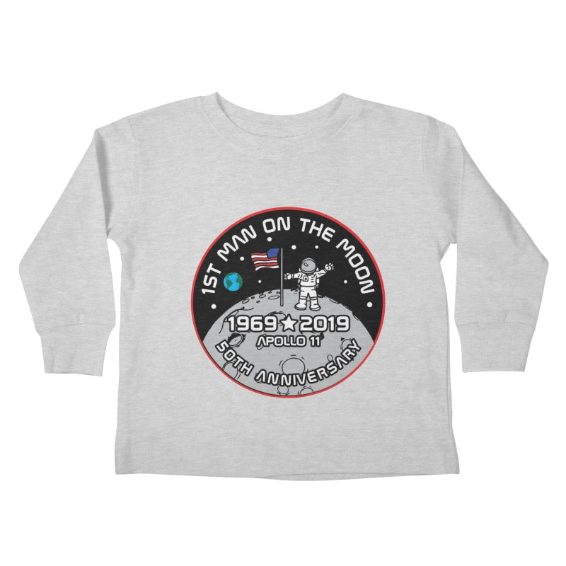 50th Anniversary of First Man Landing on the Moon Kids Toddler Longsleeve T-Shirt by Moon Joggers's Artist Shop