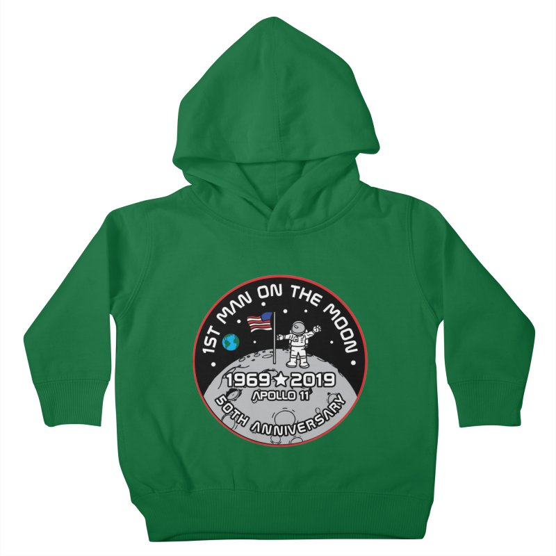 50th Anniversary of First Man Landing on the Moon Kids Toddler Pullover Hoody by Moon Joggers's Artist Shop