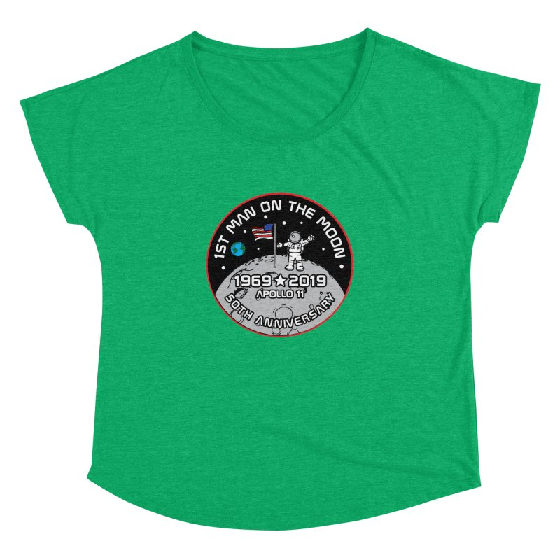 50th Anniversary of First Man Landing on the Moon Women's Dolman Scoop Neck by Moon Joggers's Artist Shop