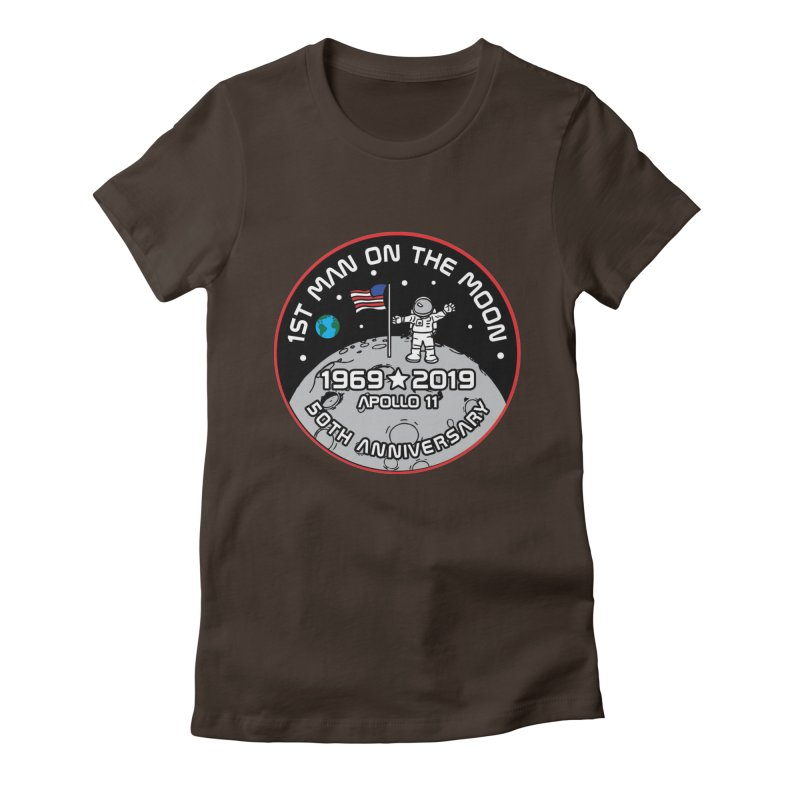50th Anniversary of First Man Landing on the Moon Women's Fitted T-Shirt by Moon Joggers's Artist Shop