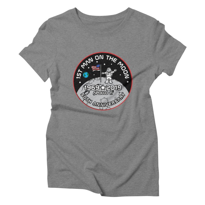 50th Anniversary of First Man Landing on the Moon Women's Triblend T-Shirt by Moon Joggers's Artist Shop