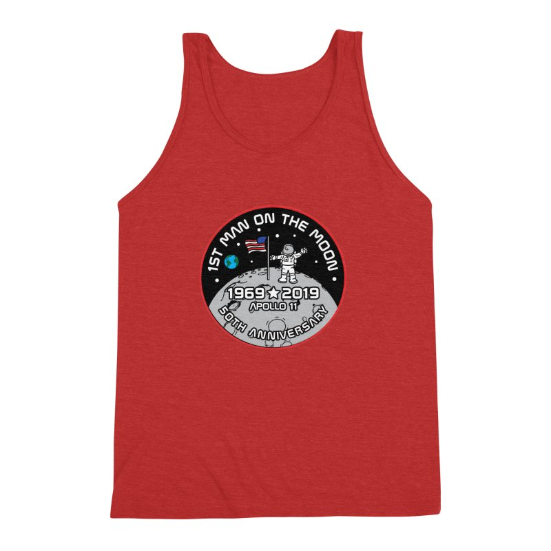 50th Anniversary of First Man Landing on the Moon Men's Triblend Tank by Moon Joggers's Artist Shop