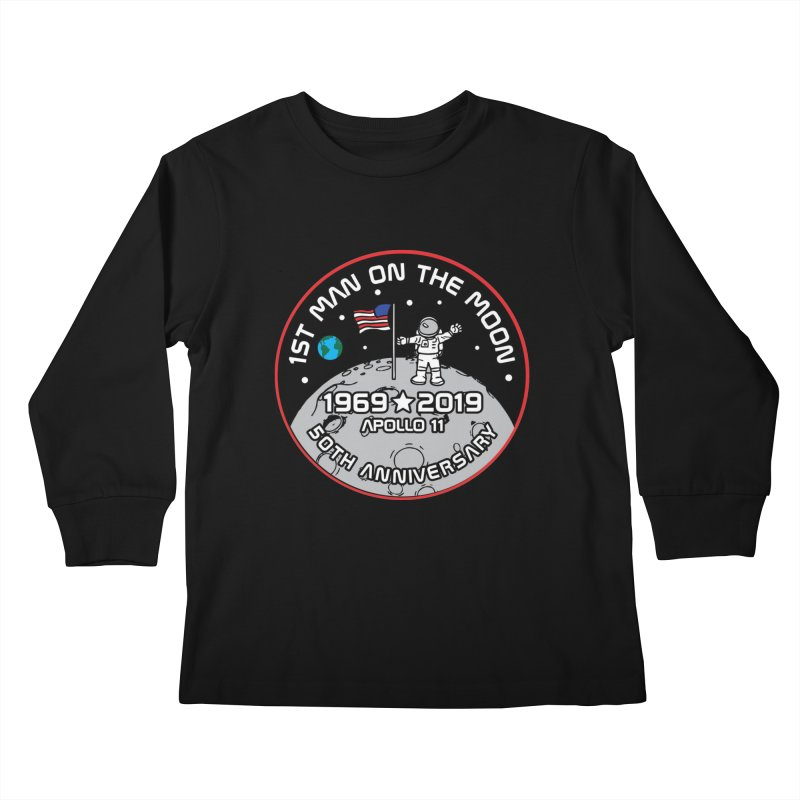 50th Anniversary of First Man Landing on the Moon Kids Longsleeve T-Shirt by Moon Joggers's Artist Shop
