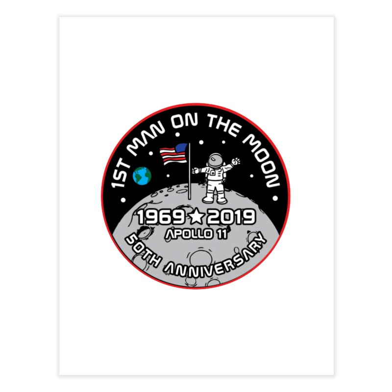 50th Anniversary of First Man Landing on the Moon Home Fine Art Print by Moon Joggers's Artist Shop