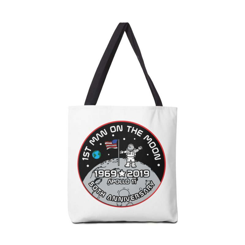 50th Anniversary of First Man Landing on the Moon Accessories Tote Bag Bag by Moon Joggers's Artist Shop