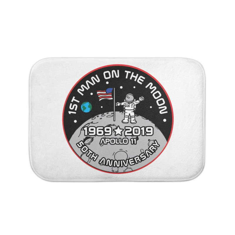 50th Anniversary of First Man Landing on the Moon Home Bath Mat by Moon Joggers's Artist Shop