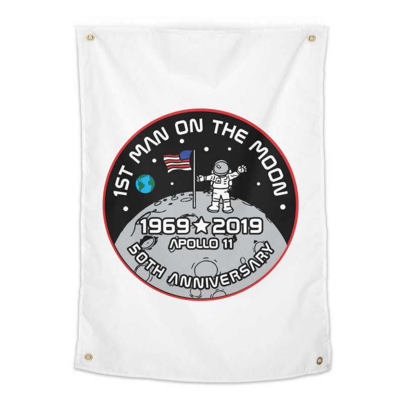 50th Anniversary of First Man Landing on the Moon Home Tapestry by Moon Joggers's Artist Shop