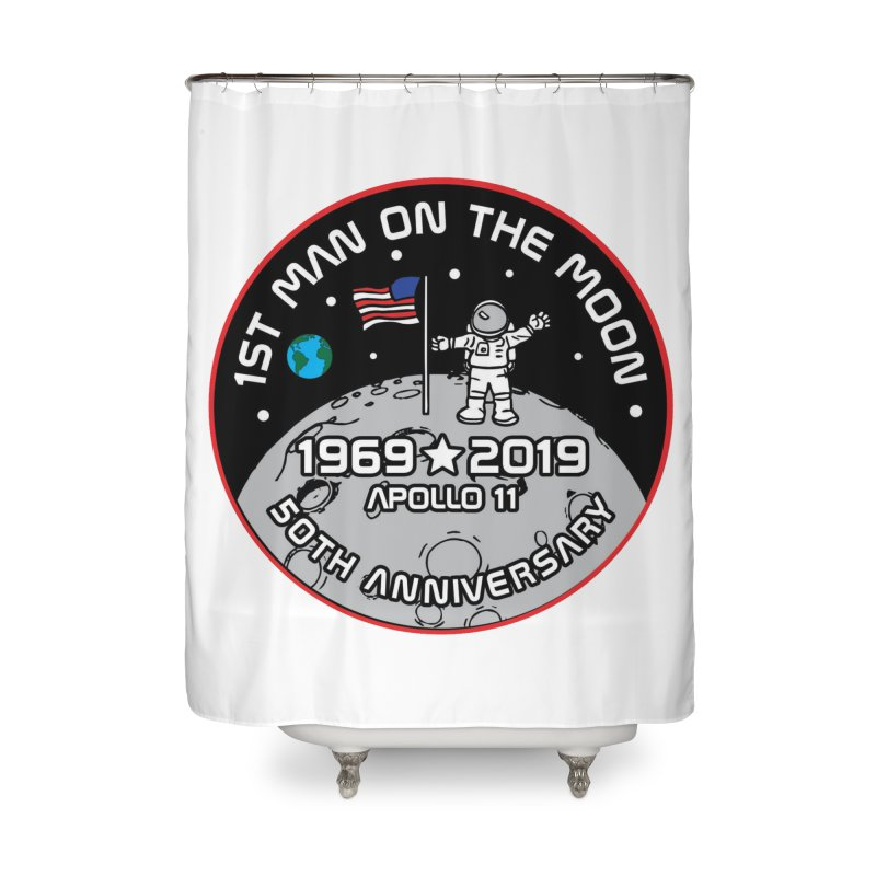 50th Anniversary of First Man Landing on the Moon Home Shower Curtain by Moon Joggers's Artist Shop
