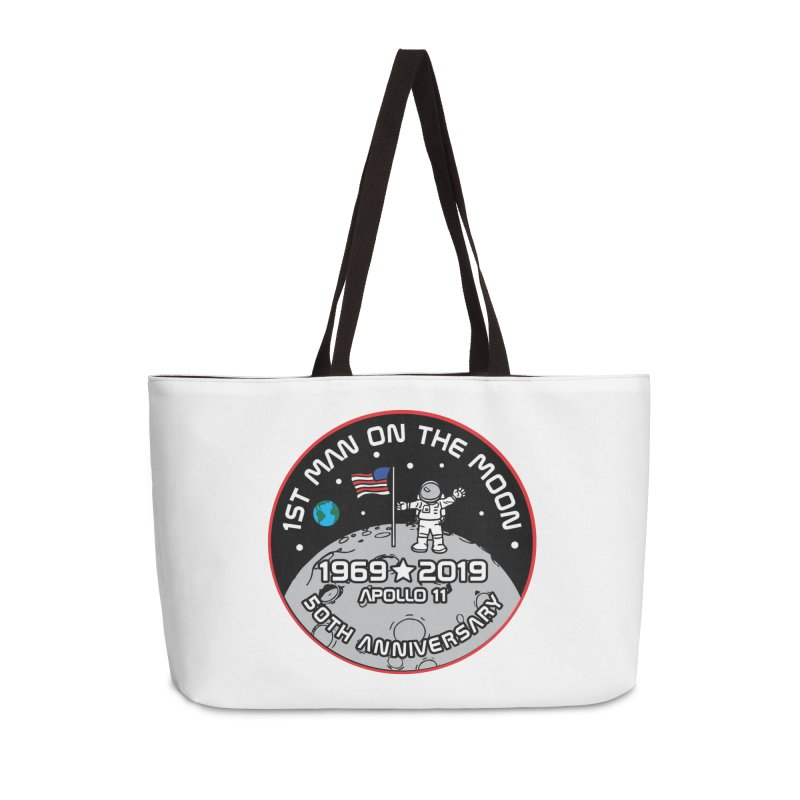 50th Anniversary of First Man Landing on the Moon Accessories Weekender Bag Bag by Moon Joggers's Artist Shop