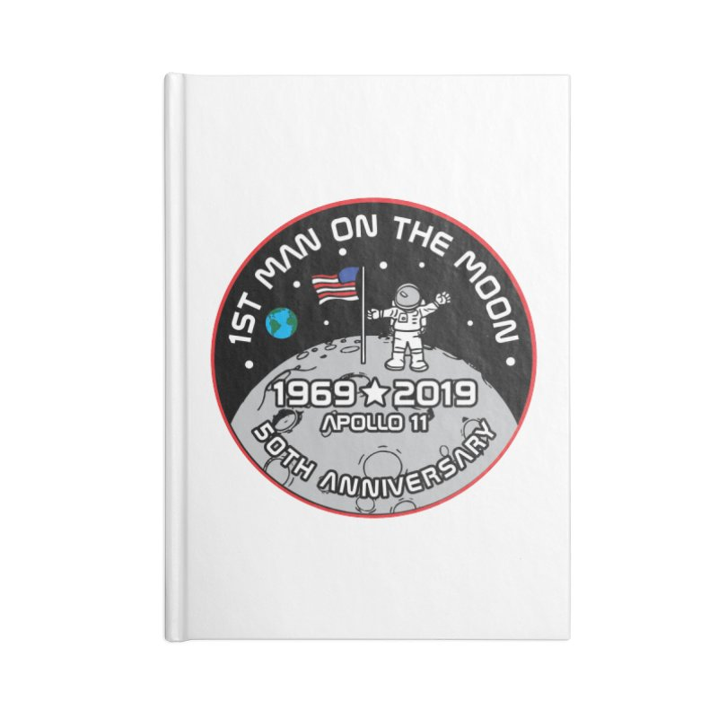 50th Anniversary of First Man Landing on the Moon Accessories Blank Journal Notebook by Moon Joggers's Artist Shop