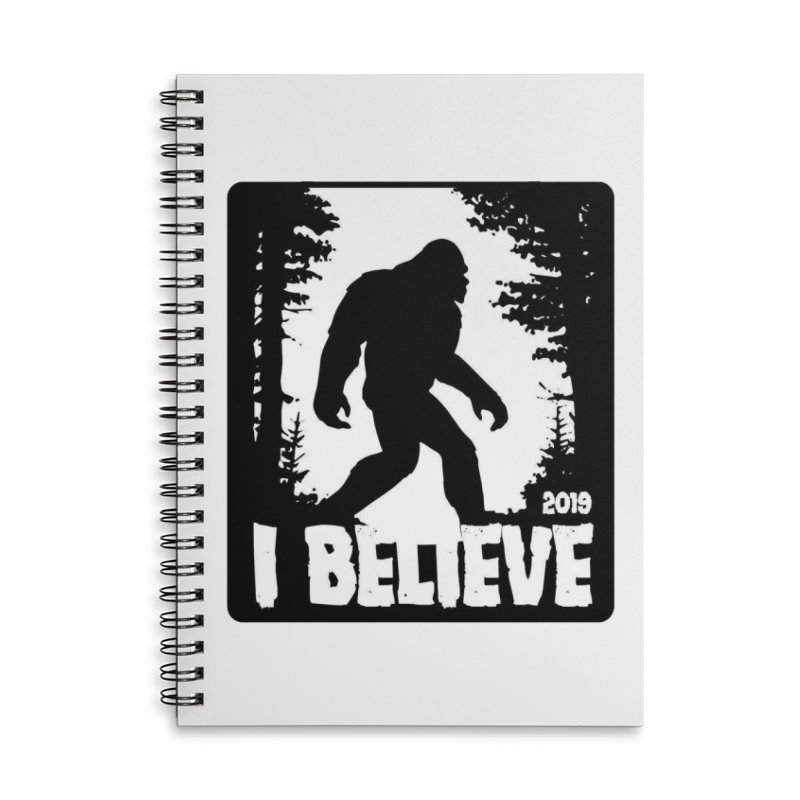 I Believe!  (Bigfoot) Accessories Lined Spiral Notebook by Moon Joggers's Artist Shop