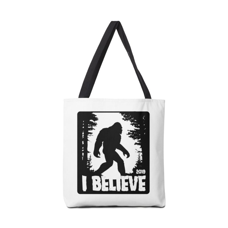 I Believe!  (Bigfoot) Accessories Tote Bag Bag by Moon Joggers's Artist Shop