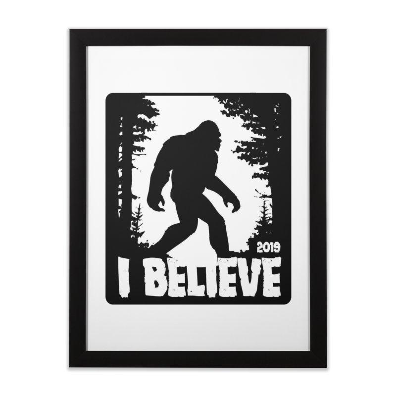 I Believe!  (Bigfoot) Home Framed Fine Art Print by Moon Joggers's Artist Shop