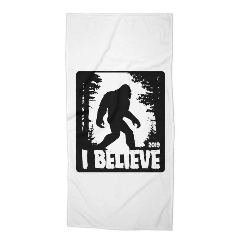 I Believe!  (Bigfoot) Accessories Beach Towel by Moon Joggers's Artist Shop