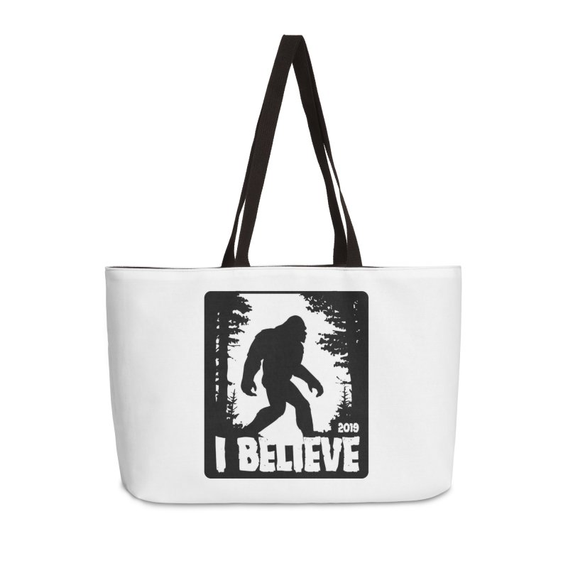 I Believe!  (Bigfoot) Accessories Weekender Bag Bag by Moon Joggers's Artist Shop
