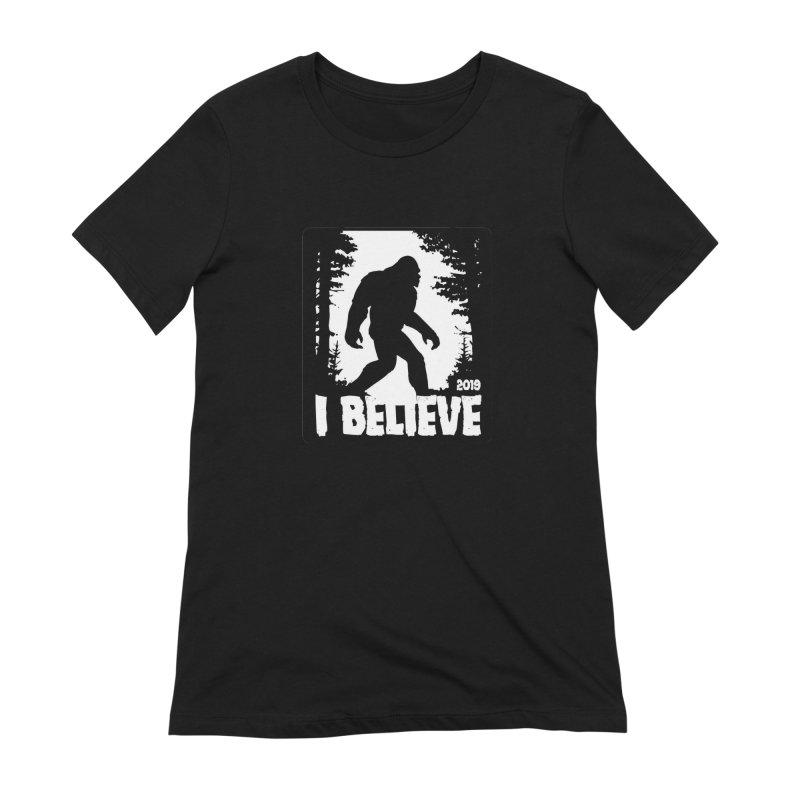 I Believe!  (Bigfoot) Women's Extra Soft T-Shirt by Moon Joggers's Artist Shop