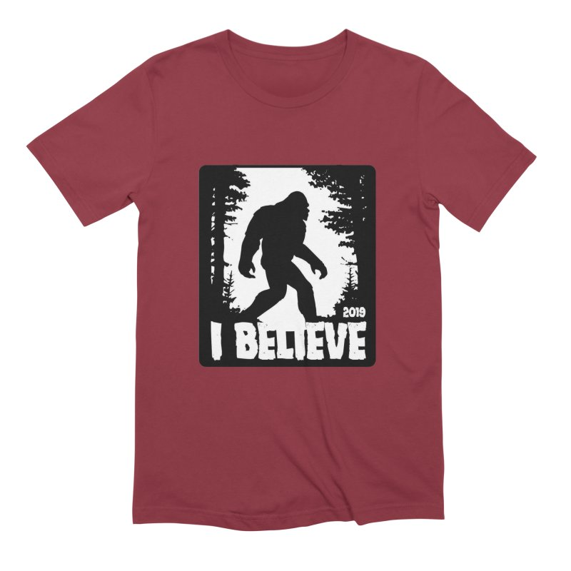 I Believe!  (Bigfoot) Men's Extra Soft T-Shirt by Moon Joggers's Artist Shop