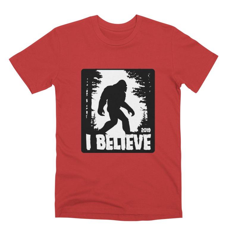 I Believe!  (Bigfoot) Men's Premium T-Shirt by Moon Joggers's Artist Shop