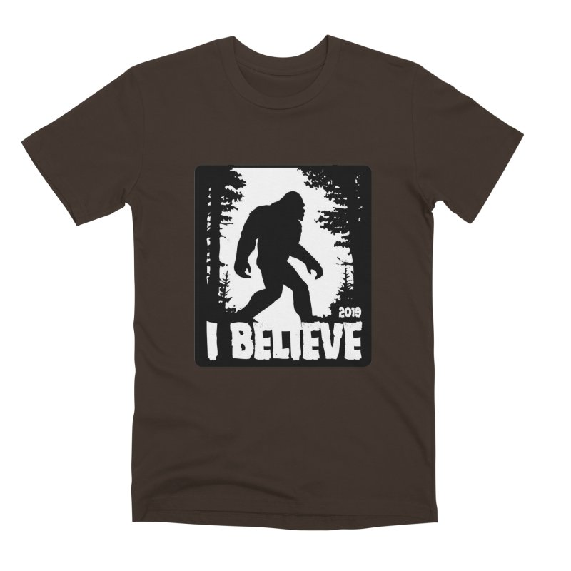 I Believe!  (Bigfoot) Men's Premium T-Shirt by Moon Joggers's Artist Shop