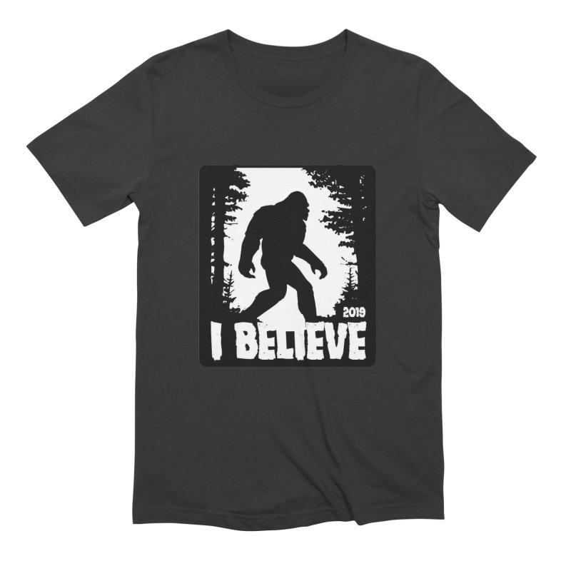 I Believe!  (Bigfoot) Men's Extra Soft T-Shirt by Moon Joggers's Artist Shop