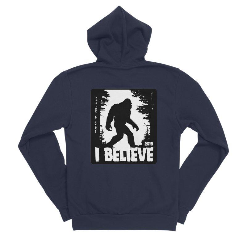 I Believe!  (Bigfoot) Men's Sponge Fleece Zip-Up Hoody by Moon Joggers's Artist Shop