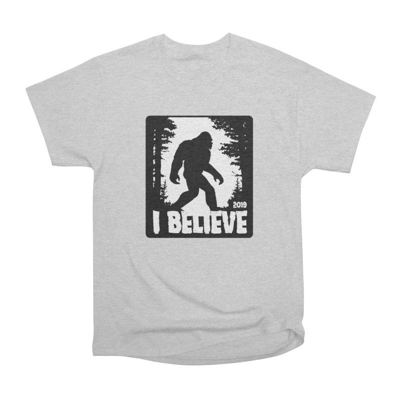 I Believe!  (Bigfoot) Men's Heavyweight T-Shirt by Moon Joggers's Artist Shop