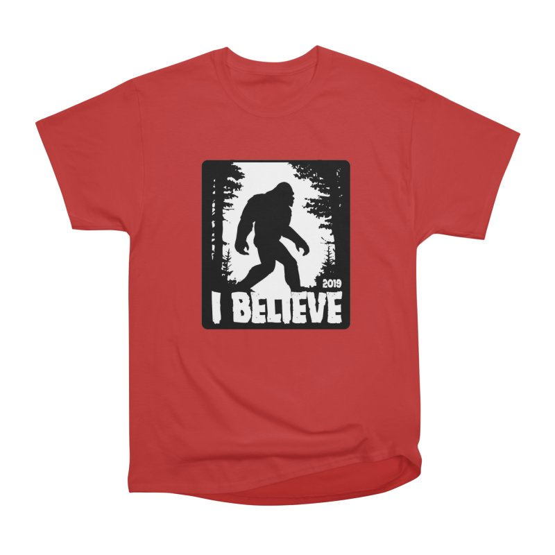 I Believe!  (Bigfoot) Women's Heavyweight Unisex T-Shirt by Moon Joggers's Artist Shop