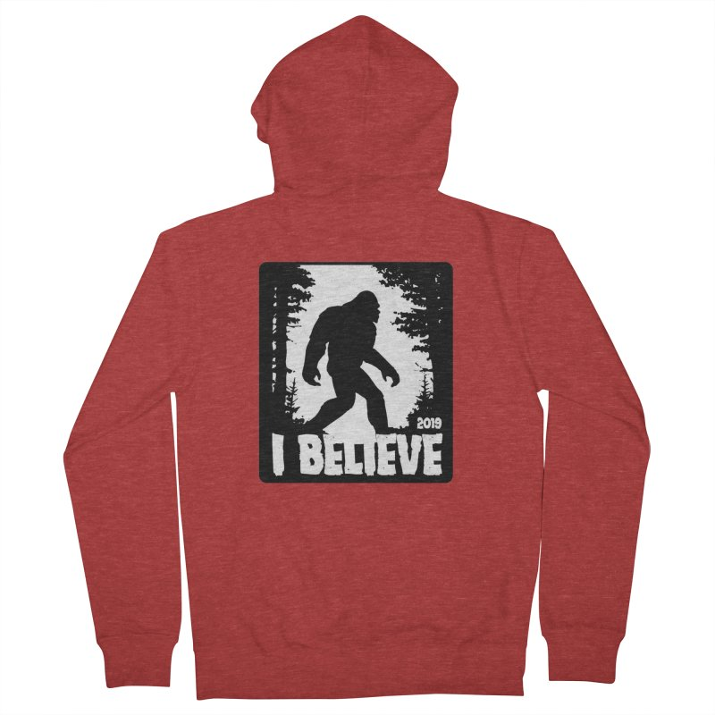 I Believe!  (Bigfoot) Women's French Terry Zip-Up Hoody by Moon Joggers's Artist Shop