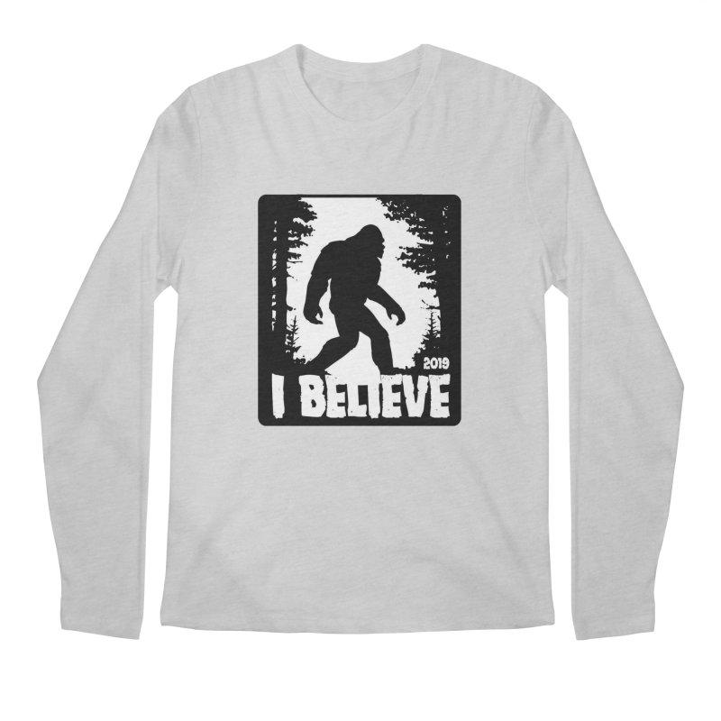 I Believe!  (Bigfoot) Men's Regular Longsleeve T-Shirt by Moon Joggers's Artist Shop