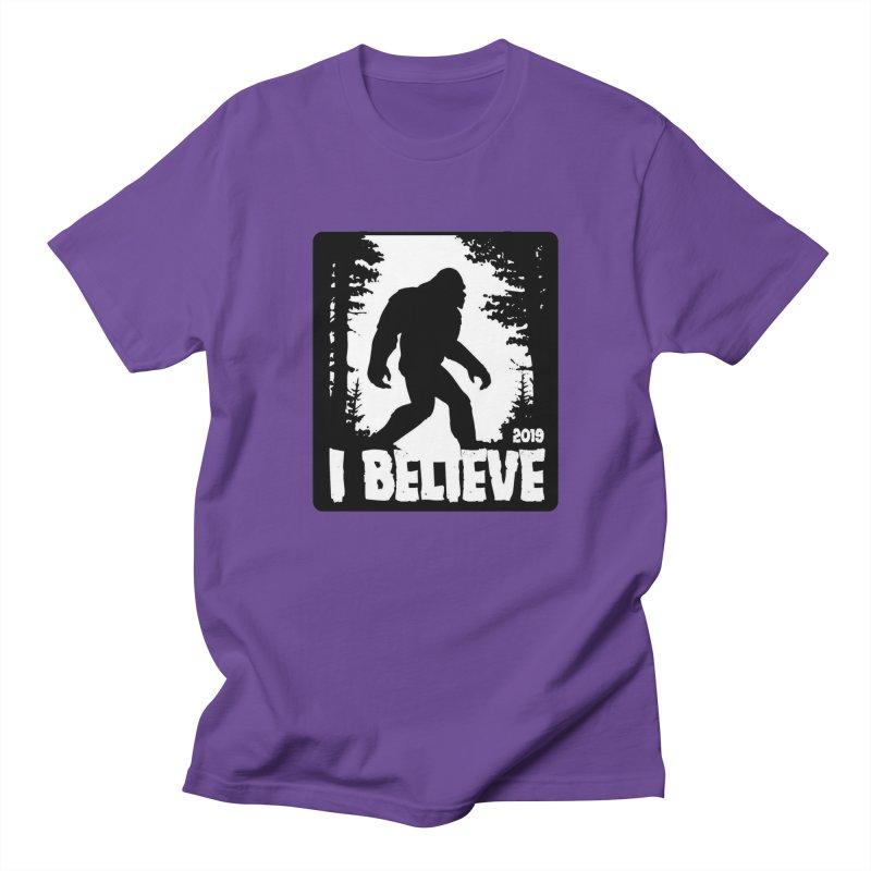 I Believe!  (Bigfoot) Women's Regular Unisex T-Shirt by Moon Joggers's Artist Shop