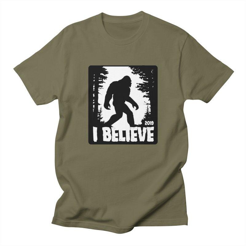 I Believe!  (Bigfoot) Men's Regular T-Shirt by Moon Joggers's Artist Shop