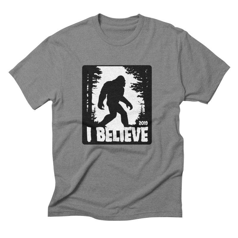 I Believe!  (Bigfoot) Men's Triblend T-Shirt by Moon Joggers's Artist Shop