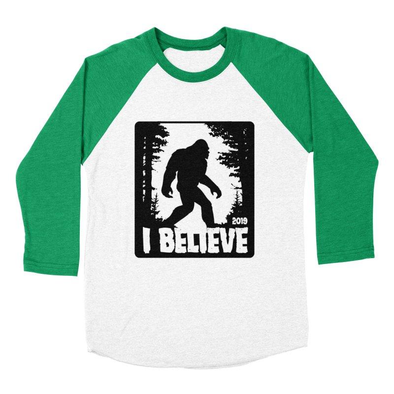 I Believe!  (Bigfoot) Women's Baseball Triblend Longsleeve T-Shirt by Moon Joggers's Artist Shop