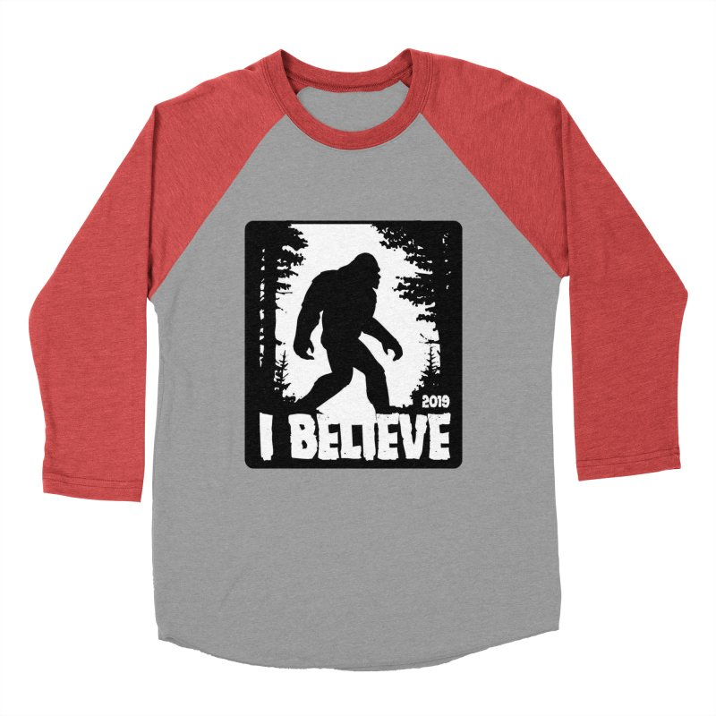 I Believe!  (Bigfoot) Men's Baseball Triblend Longsleeve T-Shirt by Moon Joggers's Artist Shop