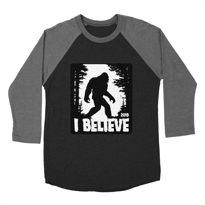 I Believe!  (Bigfoot) Men's Baseball Triblend Longsleeve T-Shirt by Moon Joggers's Artist Shop