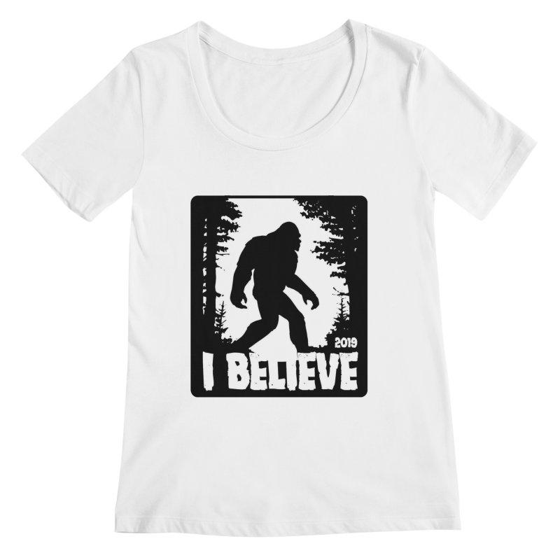 I Believe!  (Bigfoot) Women's Regular Scoop Neck by Moon Joggers's Artist Shop
