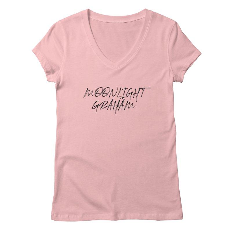 Moonlight Graham Handwritten Women's Regular V-Neck by moonlightgraham's Artist Shop